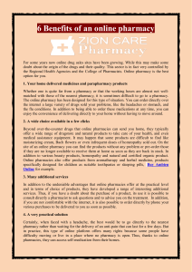 6 Benefits of an online pharmacy