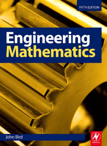 John Bird - Engineering Mathematics (Fifth Edition) (Newnes Elsevier)