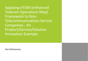 Applying eTOM Framework to Non-Telecommunications Service Companies