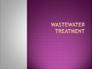 MODERN WASTEWATER TREATMENT
