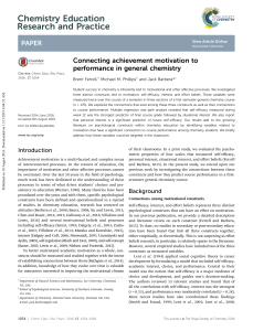Connecting achievement motivation to performance in general chemistry
