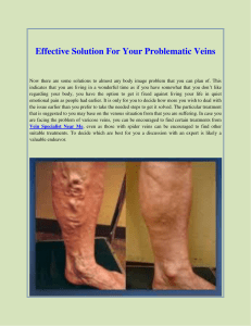 Effective Solution For Your Problematic Veins