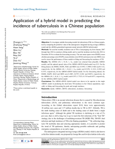 application of a hybrid model in predicting the incidence of tuberculosis in a Chinese population