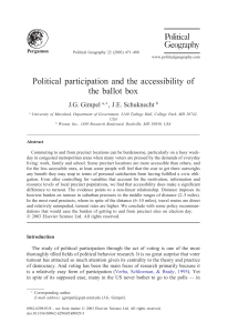 Political participation and the accessibility of the ballot box
