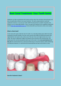 Root Canal Treatment- Your Tooth Savior