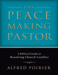 [Alfred Poirier] The Peacemaking Pastor