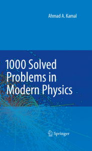 Solved Problem in Modern Physics
