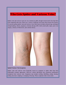 Who Gets Spider and Varicose Veins