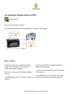12v Automatic Charger Auto Cut OFF