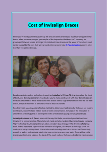 Cost of Invisalign Braces