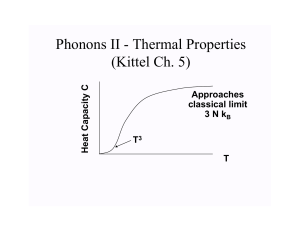 1-Phonons II - Thermal Properties