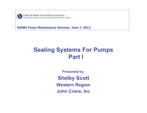 Pump Sealing Systems