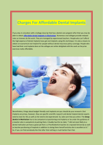Charges For Affordable Dental Implants