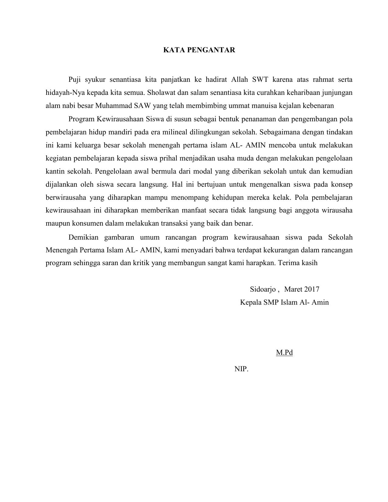 Contoh Laporan Hasil Evaluasi Program Pengembangan Kewirausahaan Sd