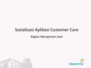Aplikasi Customer Care