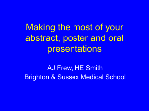 684 AJ Frew Making the most of your abstract