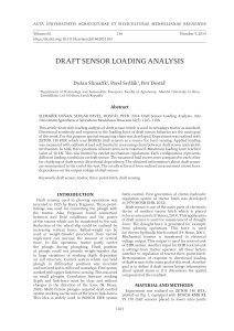 Draft Sensor Loading Analysis