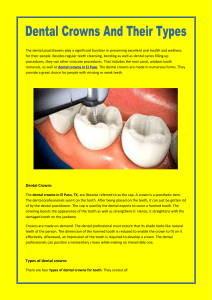Dental Crowns And Their Types