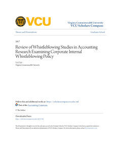 Review of Whistleblowing Studies in Accounting Research Examining
