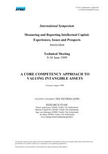 A Core Compentency Approach