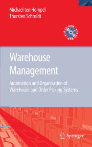 Warehouse Management Automation and Organisation of Warehouse and Order Picking Systems