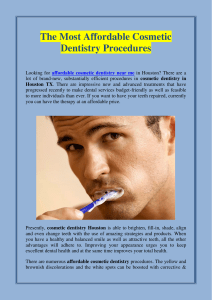 The Most Affordable Cosmetic Dentistry Procedures