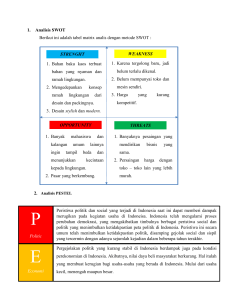 Analisis SWOT dan PESTEL