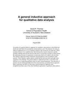 A general inductive approach for qualitative data analysis