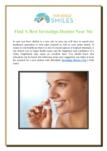 Find A Best Invisalign Dentist Near Me