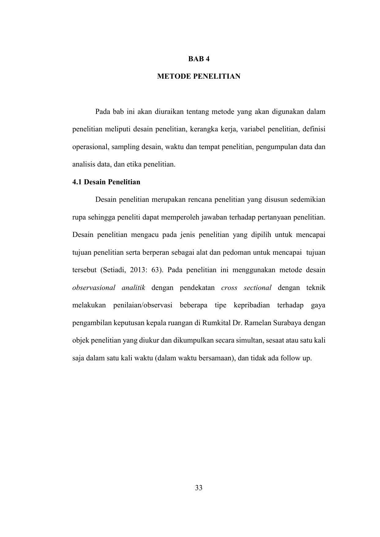 Contoh Bab 4 Skripsi