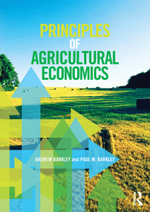 1 Principles of Agricultural Economics