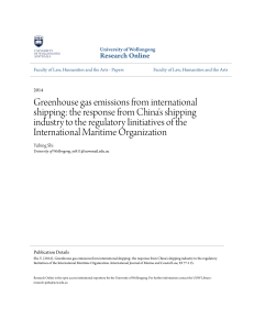 Shi,Y.2014.Greenhouse Gas Emissions from International Shipping the Response from China's Shipping Industry to the Regulatory Initiatives of the IMO.International Journal of Marine and Coast LawVol29 1-34