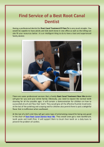 Find Service of a Best Root Canal Dentist