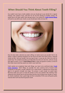 When Should You Think About Tooth Filling