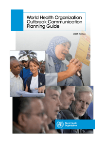© World Health Organization - WHO Outbreak Communication Planning Guide, 2008 Edition