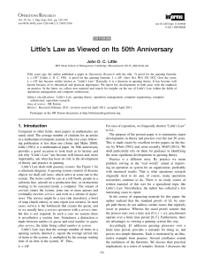 Little's Law as Viewed on Its 50th Anniversary