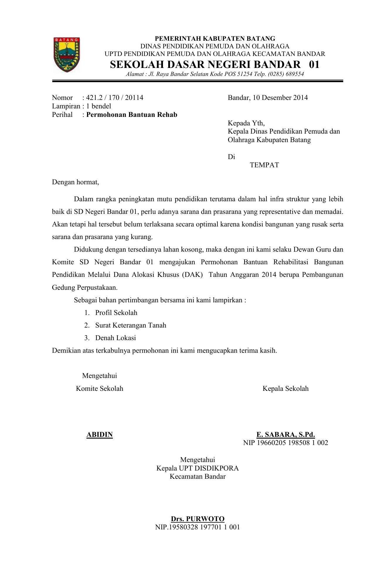 Contoh Proposal Dak Perpustakaan