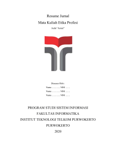 Template Resume Jurnal Etika Profesi