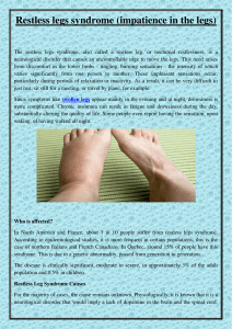 10. Restless legs syndrome