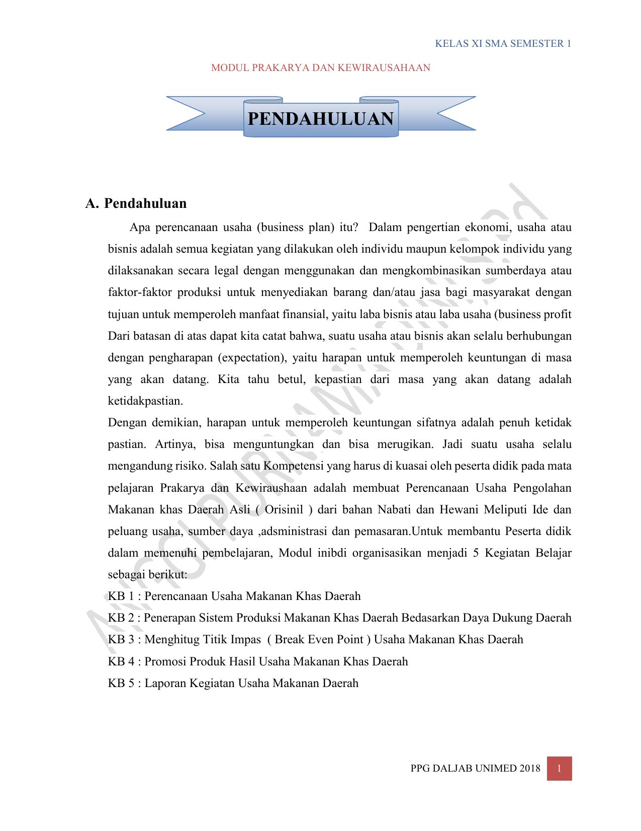Prakarya Kelas Xi