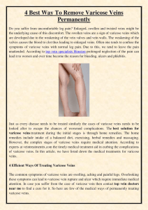 4 Best Way To Remove Varicose Veins Permanently