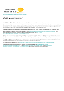 what is general insurance