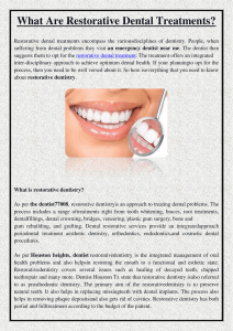 What Are Restorative Dental Treatments