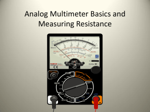 19. Analog Multimeter Basics and Measuring Resistance