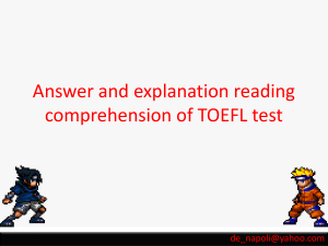 reading toefl discussion