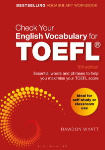 English Vocabulary for TOEFL