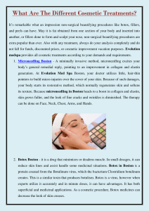 What Are The Different Cosmetic Treatments