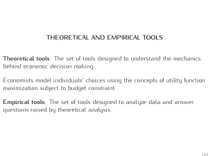 lecture2 - Theoretical and Empirical Tools