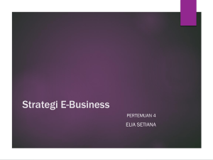 Pertemuan 4 strategi e-business