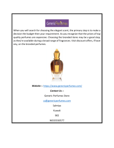 Buy Designer and Uncut Perfume Oils at Best Price